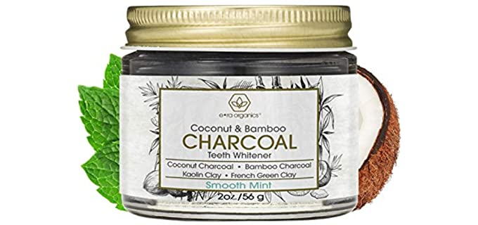 Era Organics Bamboo Charcoal - Organic Minty Teeth Whitening