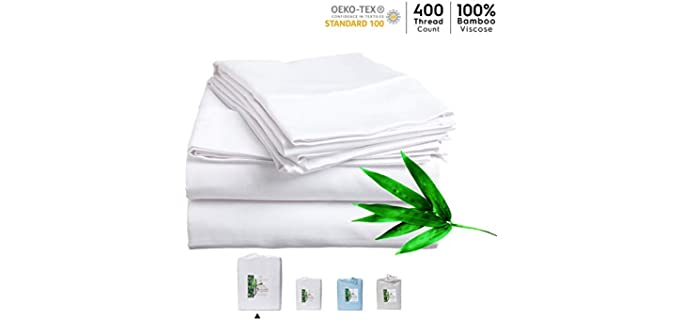 NatureIn Queen - Anti-Static Organic Bamboo Sheets