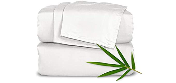Pure Bamboo Queen - Double Stitch Organic Bamboo Sheets