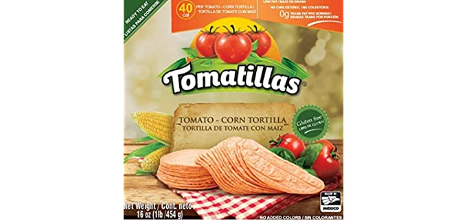 Tomatillas 100% Fresh - Tomato Corn Tortilla