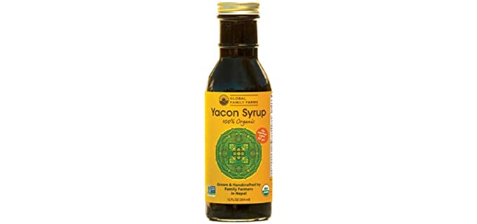 Global Family Farms Glass Bottle - Organic Rich Yacon Syrup