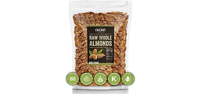 I'm A Nut Low Cholesterol - High Protein Organic Almonds